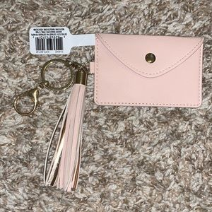 Pink Cardholder and Keychain